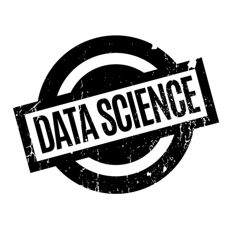 illustrative: Data Science rubber stamp. Grunge design with dust scratches. Effects can be easily removed for a clean, crisp look. Color is easily changed. Illustration
