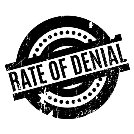 appraise: Rate Of Denial rubber stamp. Grunge design with dust scratches. Effects can be easily removed for a clean, crisp look. Color is easily changed.