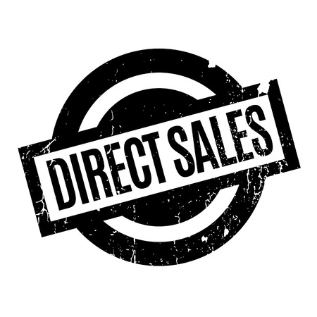 Direct Sales rubber stamp. Grunge design with dust scratches. Effects can be easily removed for a clean, crisp look. Color is easily changed. Illustration
