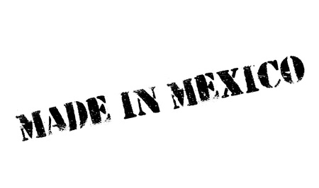 Made In Mexico rubber stamp. Grunge design with dust scratches. Effects can be easily removed for a clean, crisp look. Color is easily changed.