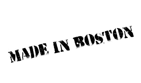 Made In Boston rubber stamp. Grunge design with dust scratches. Effects can be easily removed for a clean, crisp look. Color is easily changed. Illustration