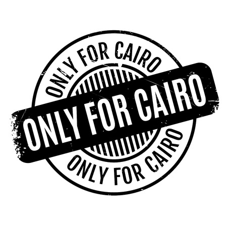 Only For Cairo rubber stamp. Grunge design with dust scratches. Effects can be easily removed for a clean, crisp look. Color is easily changed. Ilustração