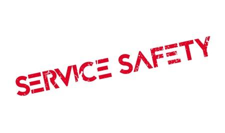 Service Safety rubber stamp Ilustrace