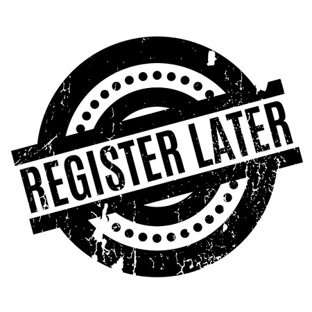 Register Later rubber stamp Векторная Иллюстрация