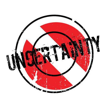 Uncertainty rubber stamp Иллюстрация