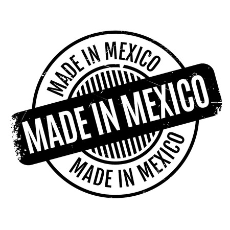 Made In Mexico rubber stamp
