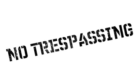 No Trespassing rubber stamp Stock Vector - 81349386