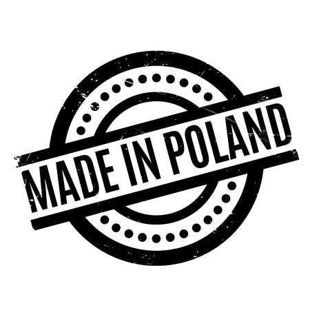 Made In Poland rubber stamp Illustration