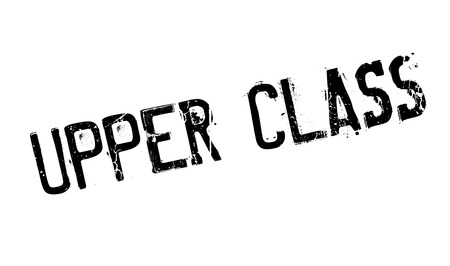 Upper Class rubber stamp Illustration
