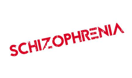 Schizophrenia rubber stamp Illustration