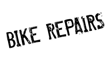 Bike Repairs rubber stamp Foto de archivo - 81349449