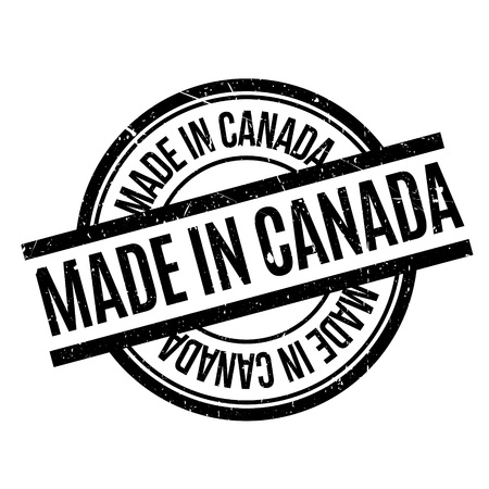 canada stamp: Made In Canada rubber stamp Illustration