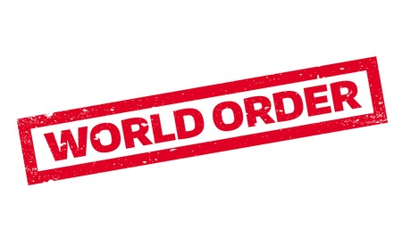 World Order rubber stamp Иллюстрация