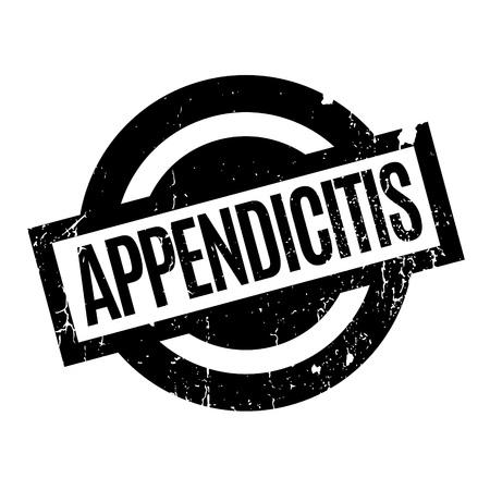 large intestine: Appendicitis rubber stamp