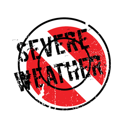 Severe Weather rubber stamp Stock Photo