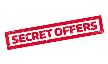 Secret Offers rubber stamp Illustration