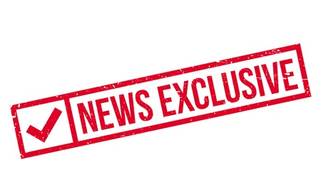 News Exclusive rubber stamp Illustration
