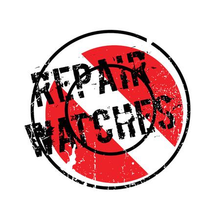 Repair Watches rubber stamp Illusztráció