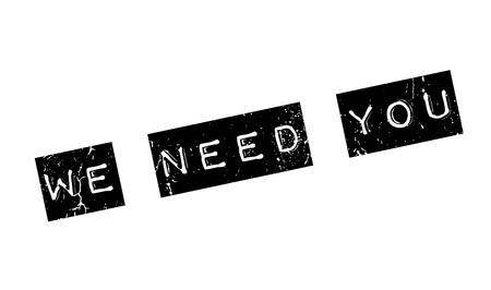 Wir brauchen Sie Stempel Vektorgrafik