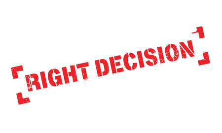 tough: Right Decision rubber stamp