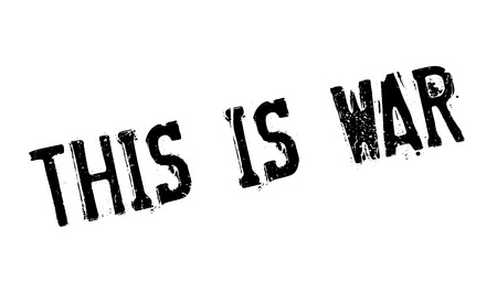 This Is War rubber stamp Illustration