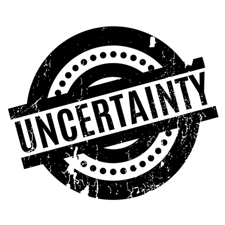 Uncertainty rubber stamp Stock Photo