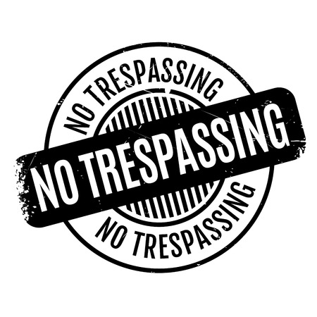 No Trespassing rubber stamp Stock Vector - 81349419