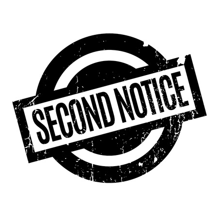 Second Notice rubber stamp Çizim