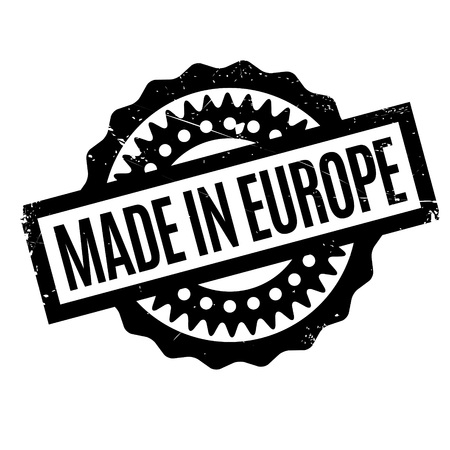 made in belgium: Made In Europe rubber stamp