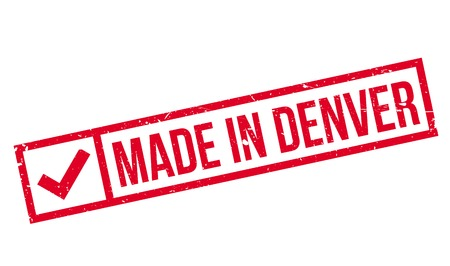Made In Denver rubber stamp