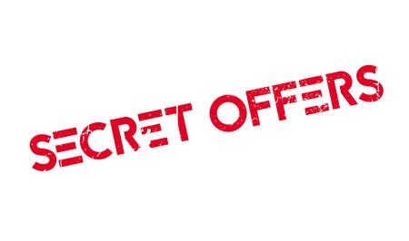 stealthy: Secret Offers rubber stamp Illustration