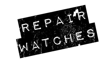 Reparación Relojes rubber stamp Foto de archivo - 81349558