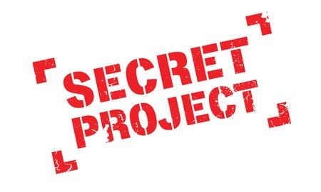Secret Project rubber stamp Illustration