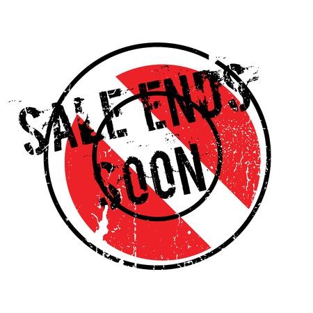 Sale Ends Soon rubber stamp Illustration