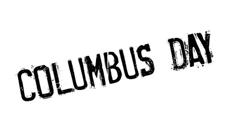 Columbus Day rubber stamp