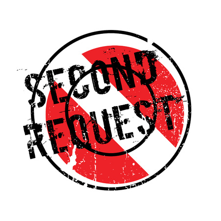 recourse: Second Request rubber stamp Illustration