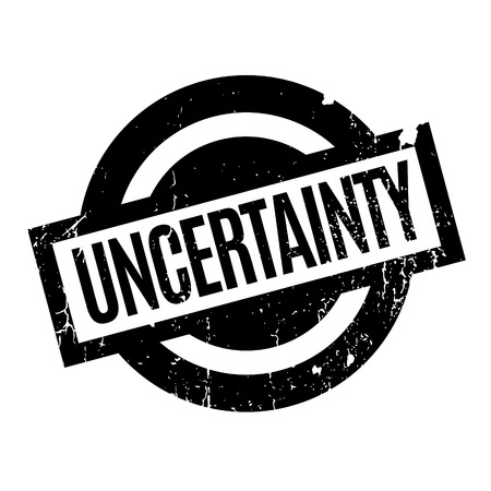Uncertainty rubber stamp Illustration