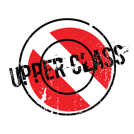 Upper Class rubber stamp Illustration