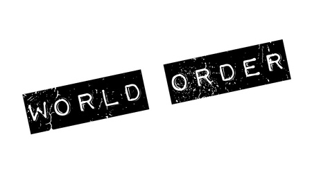 World Order rubber stamp Illustration