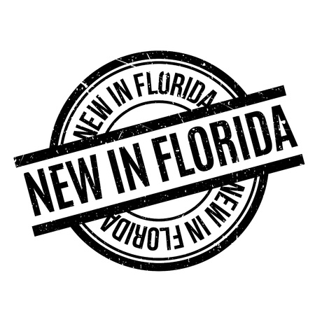 New In Florida rubber stamp Ilustração