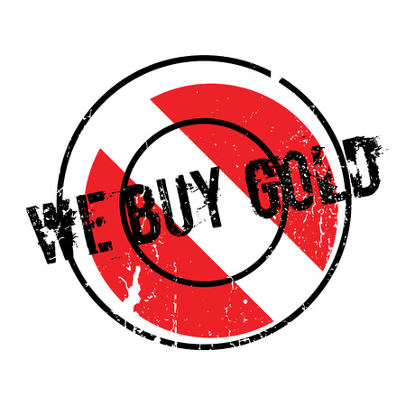 grocer: We Buy Gold rubber stamp