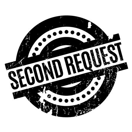 Second Request rubber stamp Stock Photo