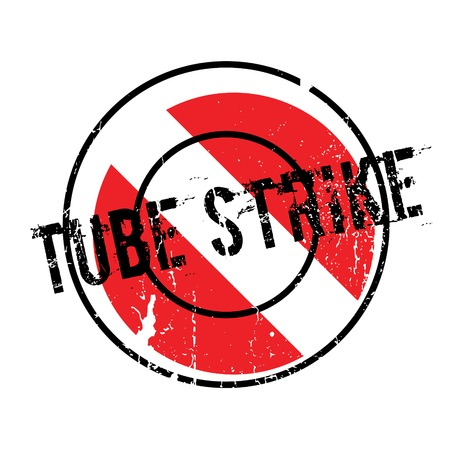 Tube Strike rubber stamp. Grunge design with dust scratches. Effects can be easily removed for a clean, crisp look. Color is easily changed. Stock Photo