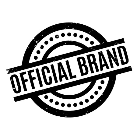 Official Brand rubber stamp. Grunge design with dust scratches. Effects can be easily removed for a clean, crisp look. Color is easily changed. Stock Photo