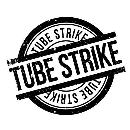 Tube Strike rubber stamp Imagens - 81368856