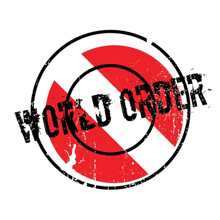 World Order rubber stamp Stock Photo