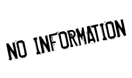 erudition: No Information rubber stamp