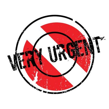 Very Urgent rubber stamp