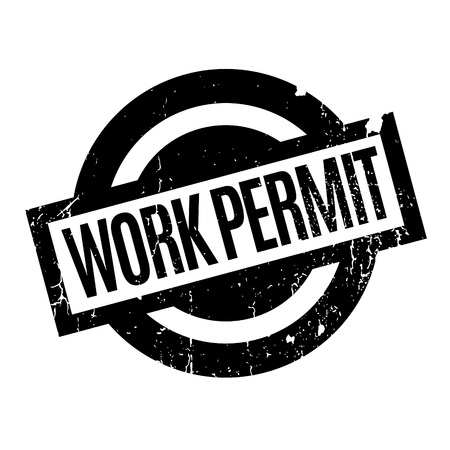 immigrate: Work Permit rubber stamp