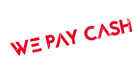 recompense: We Pay Cash rubber stamp Illustration